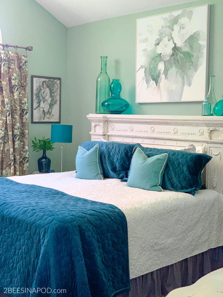 Teal Master Bedroom Makeover 2 Bees In A Pod