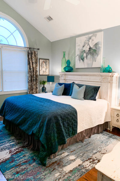 Teal Master Bedroom Makeover