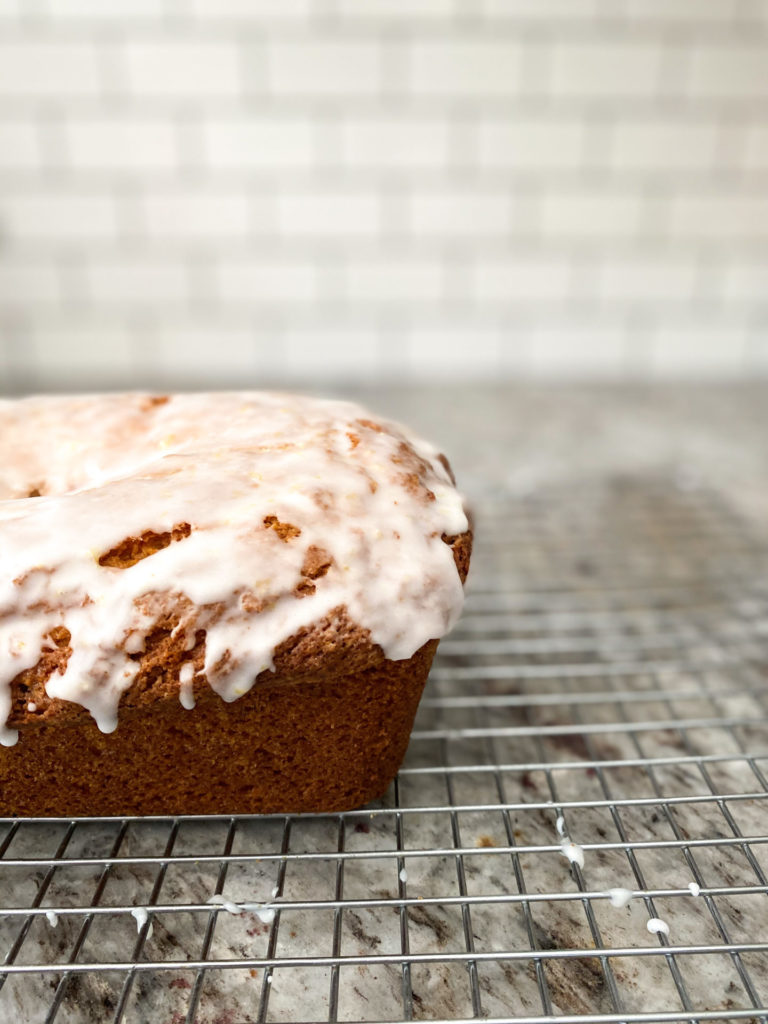 Fresh lemon bread out of the oven