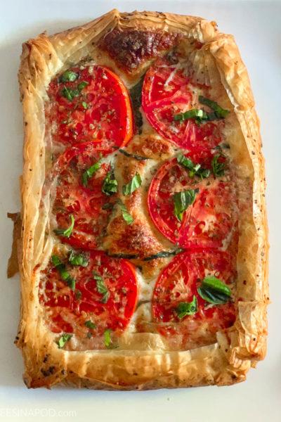 Tomato Tart with Mozzarella and Parmesan