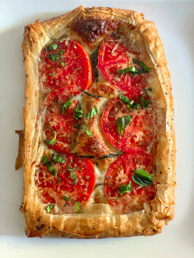 Tomato Tart with Mozzarella and Parmesan