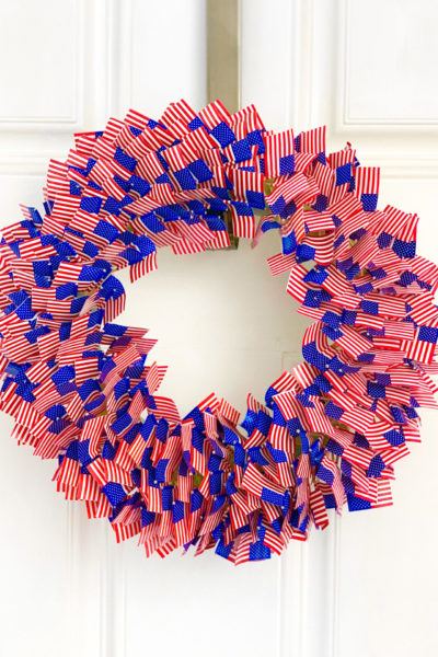 Patriotic American Flag Toothpick Wreath