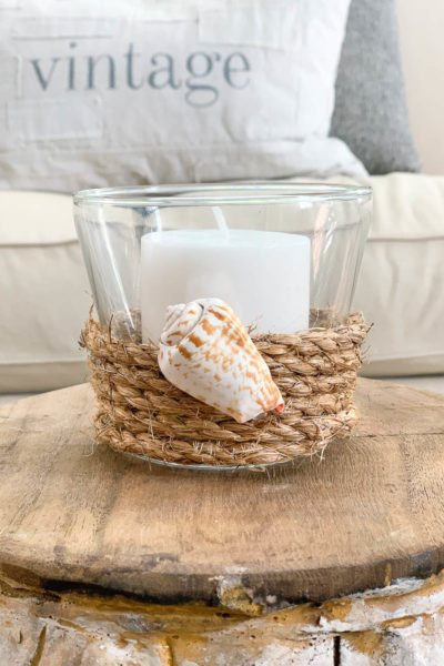 Rope Wrapped Candle Holder – Thrifty Style Team