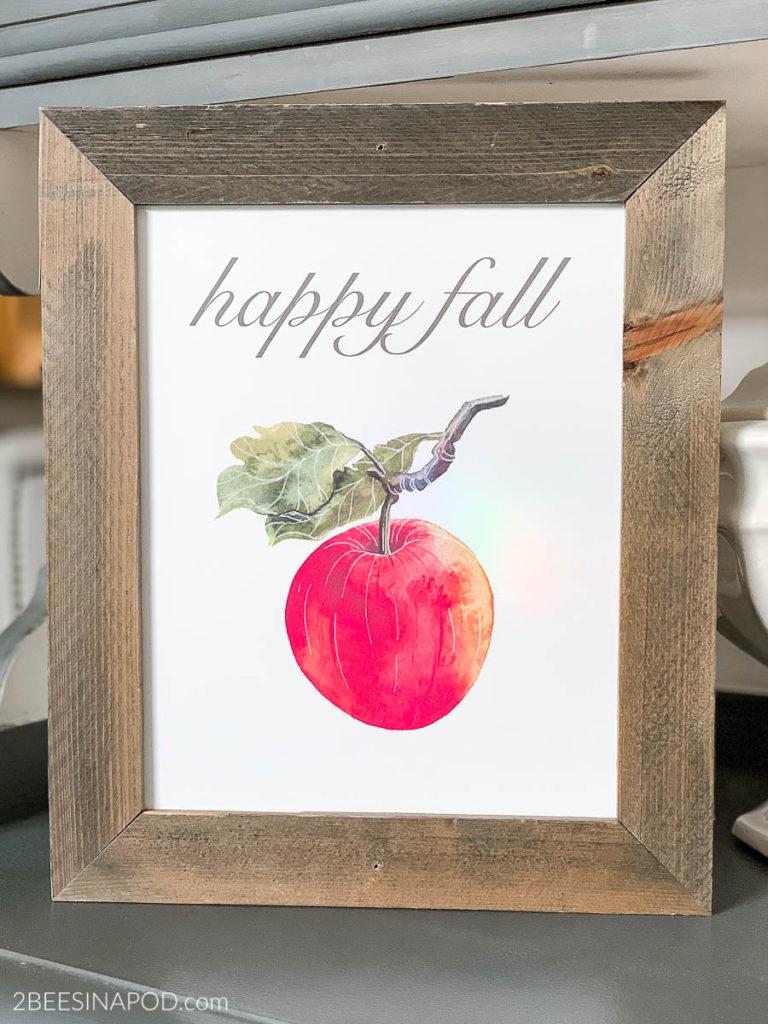 Framed Happy Fall Printable
