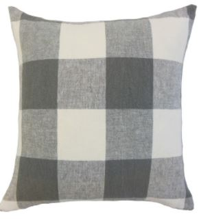 Fall pillow with buffalo check