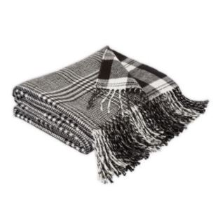 Black and white throw blanket - buffalo check