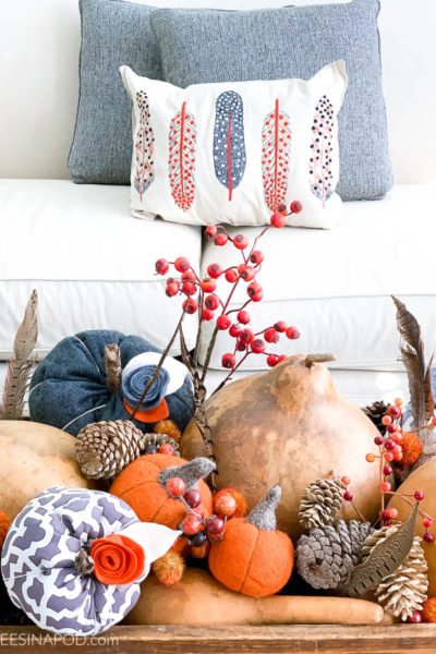 Casual Fall Family Room – Easy to Do