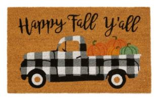 Buffalo Check truck fall welcome mat