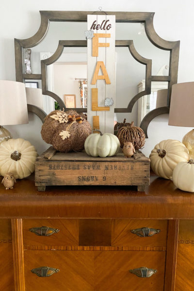 Neutral Fall Entryway Decor