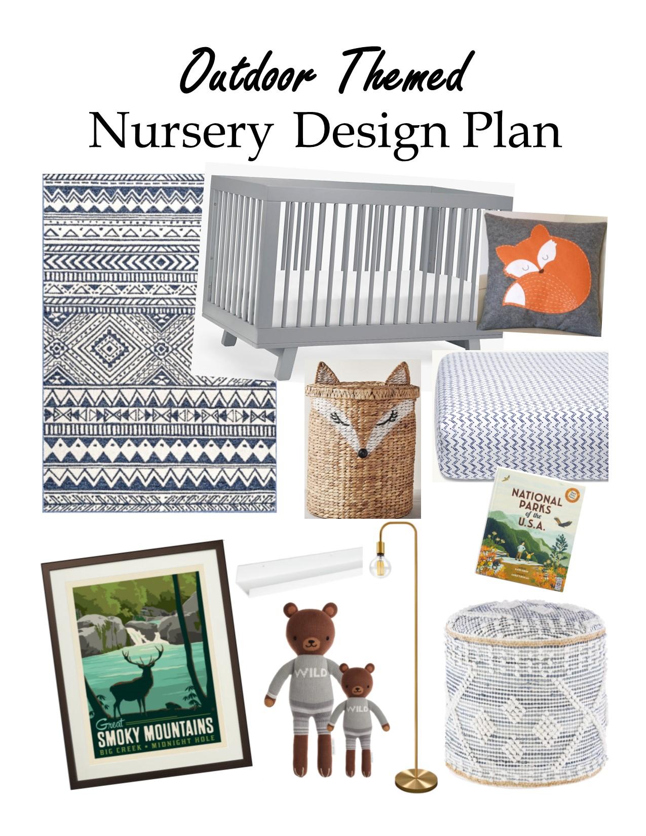 Outdoor Themed Nursery Design Plan