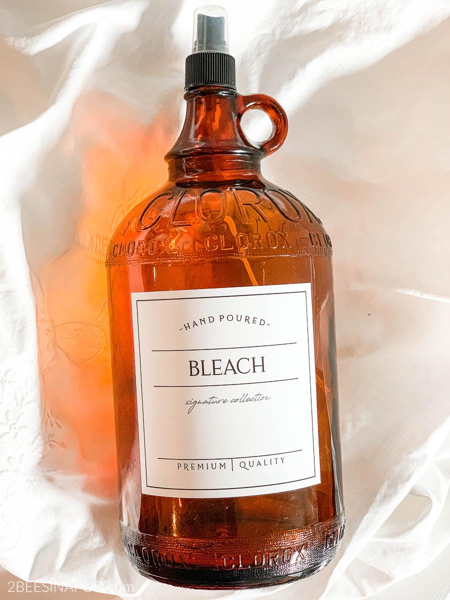 Revamped Vintage Clorox Bottle