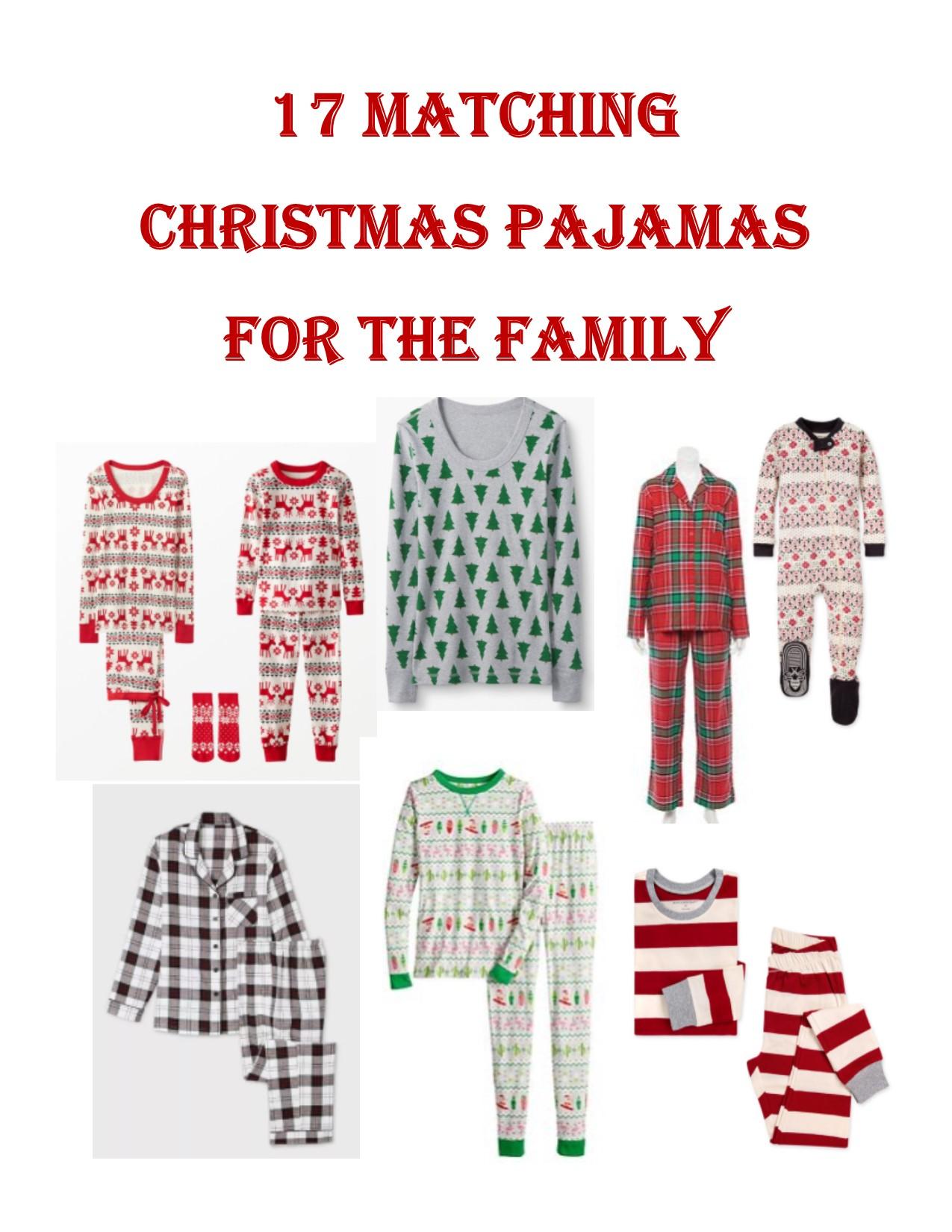 17 Matching Christmas Pajamas for the Family