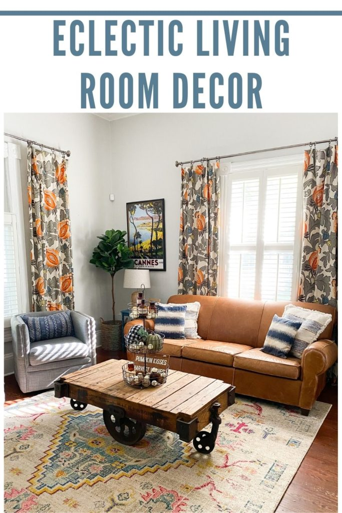 Living room eclectic decor