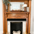 mantel decor for fall