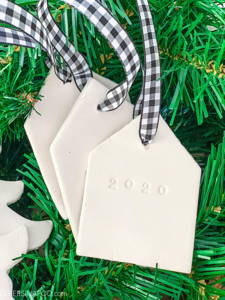 Air Dry Clay Christmas Ornaments - Using Cookie Cutters - clay house ornaments