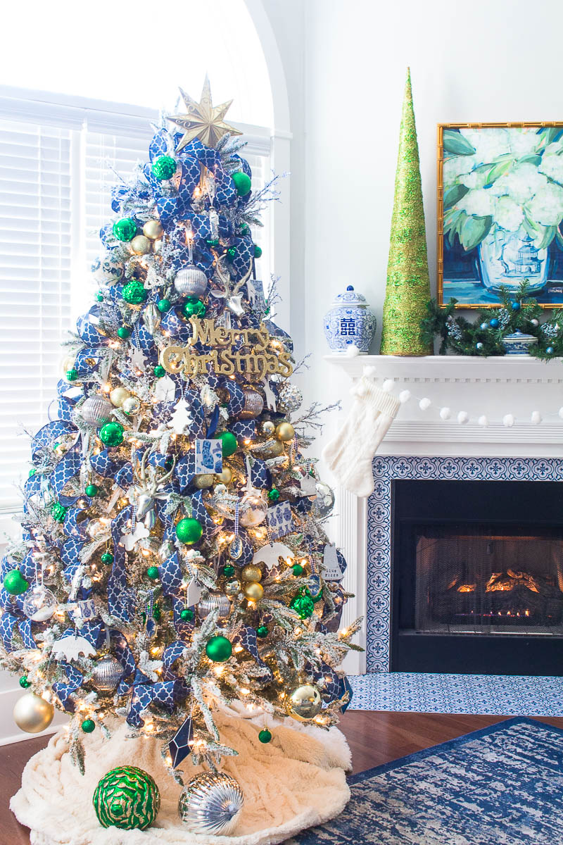 Blue And Green Christmas Tree Christmas Tree Ideas 2 Bees In A Pod
