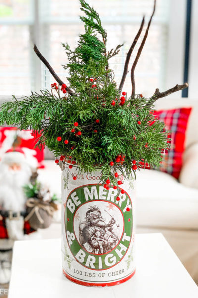 Easy Christmas Evergreen Centerpiece