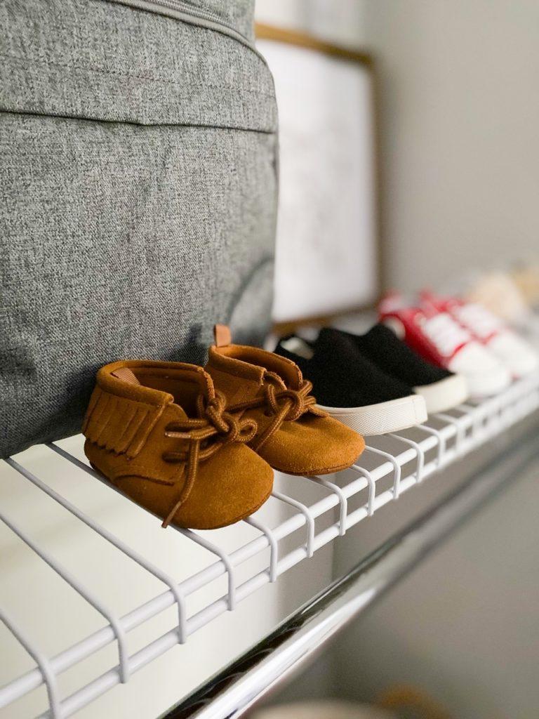 Nursery Closet Reveal Shoes