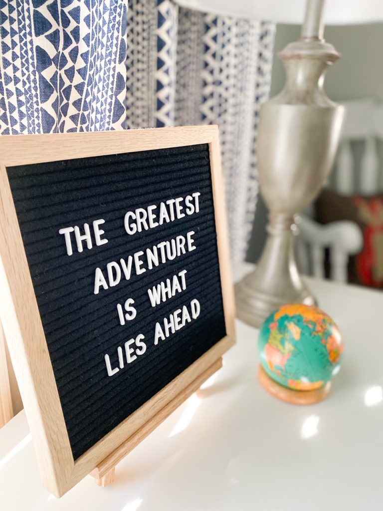 Outdoor quote for nursery