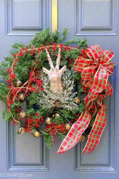 Sleigh Bell Christmas Wreath