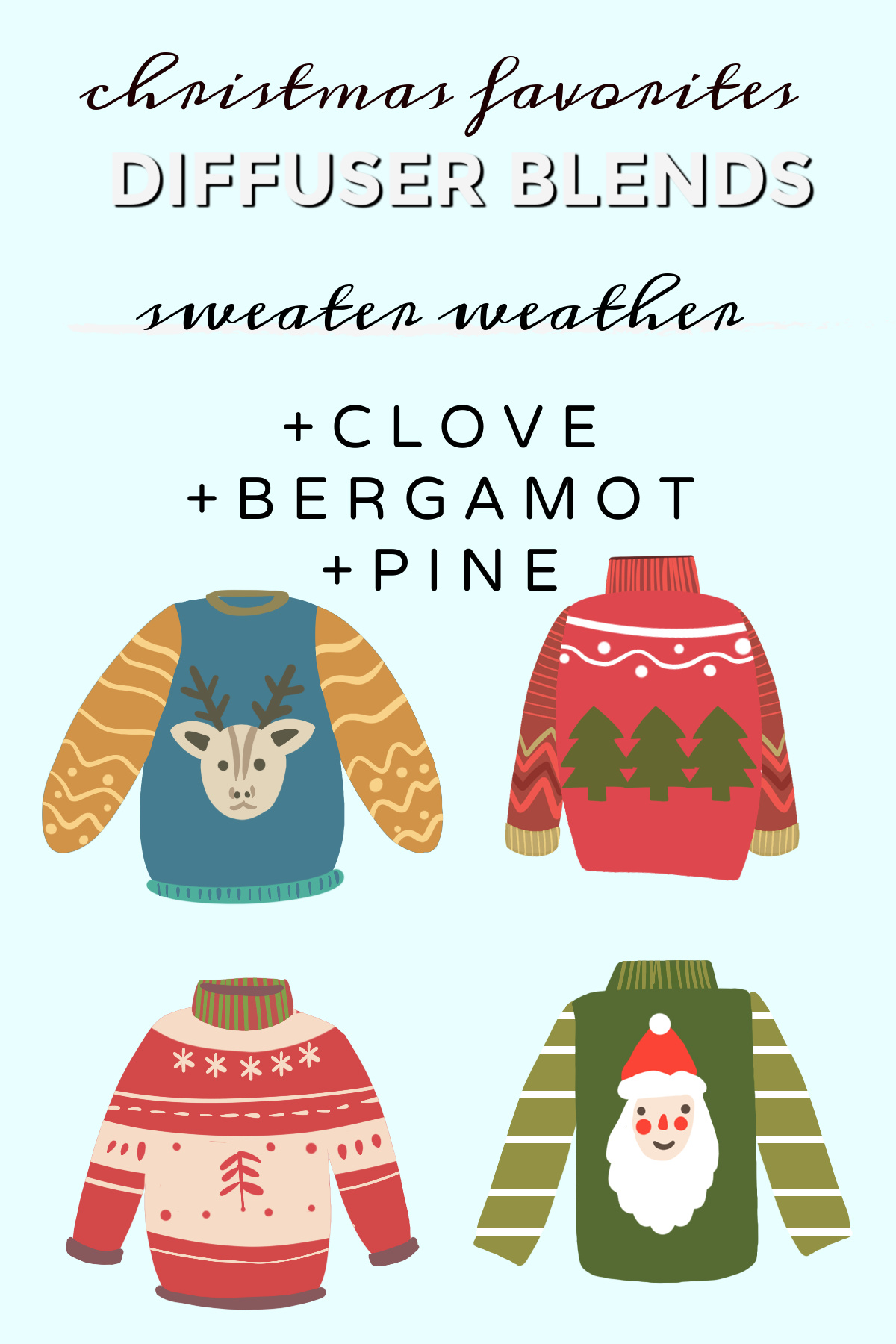 Christmas Diffuser Blends – Free Printables
