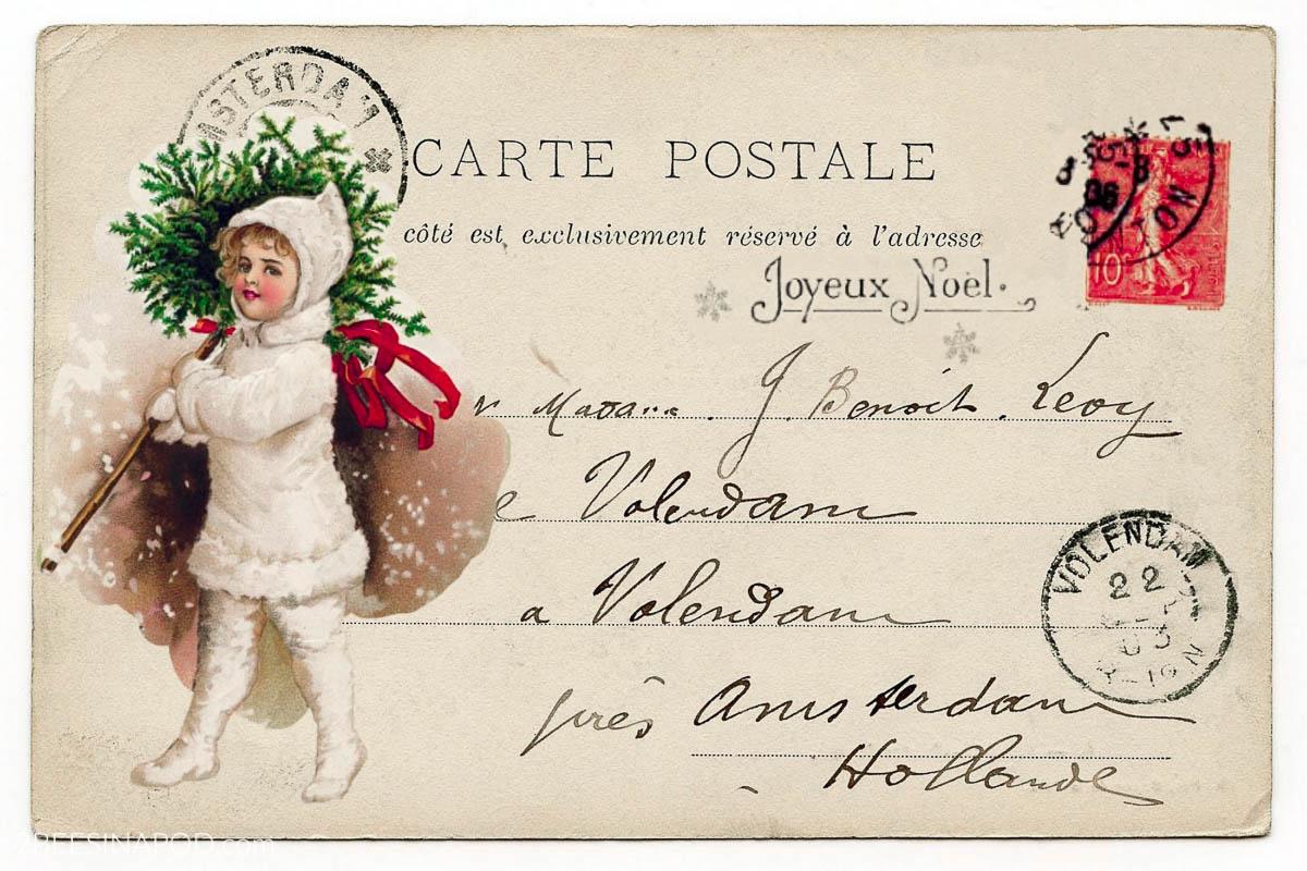 Vintage Christmas Postcard Gift Tags – Free Printable