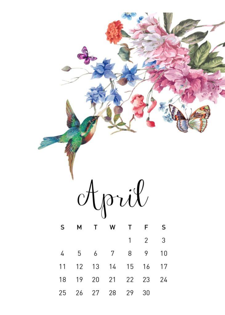 Free 2021 Calendar Printable - April