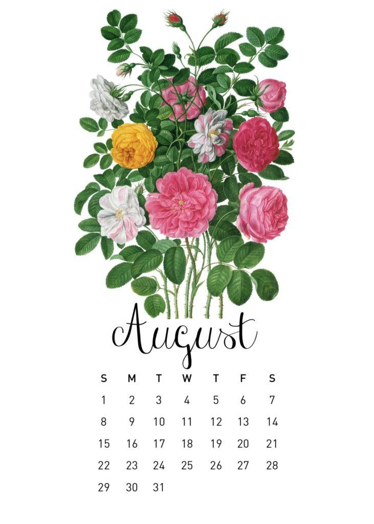 Free 2021 Calendar Printable - August