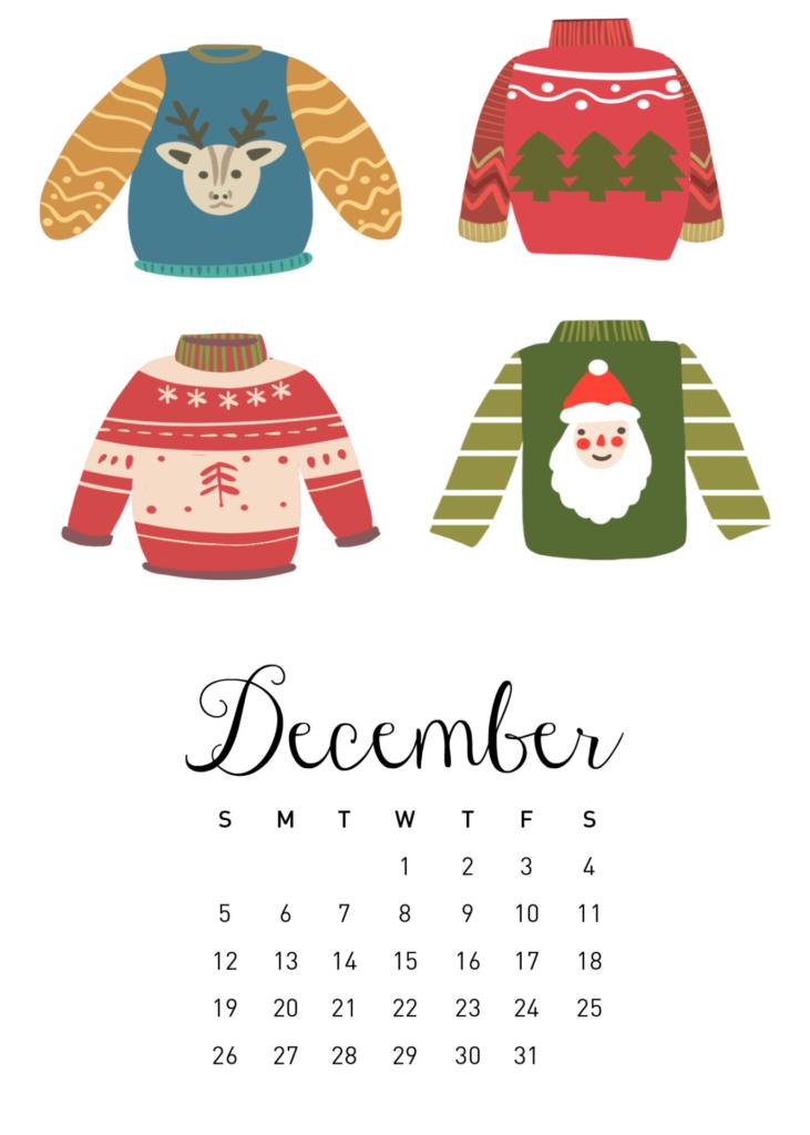 Free 2021 Calendar Printable - December