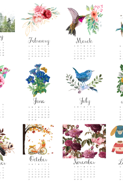 Free 2021 Calendar Printable – Plus $125 Gift Card Giveaway