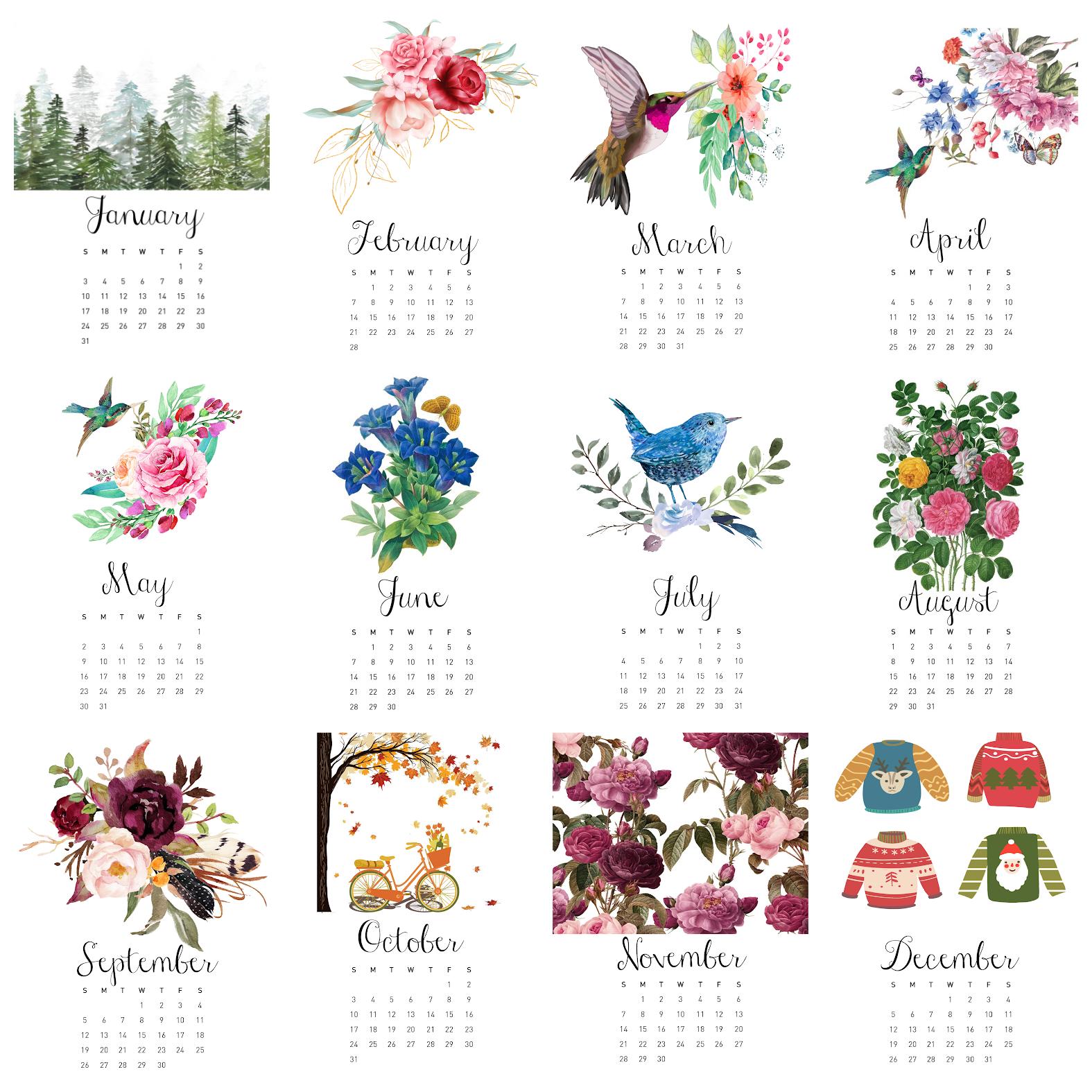 Free 2021 Calendar Printable – Plus $125 Gift Card Giveaway
