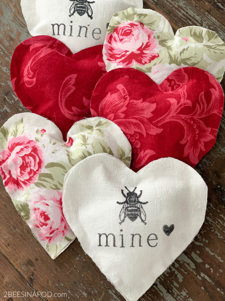 Easy Fabric Hearts - No Sewing Required