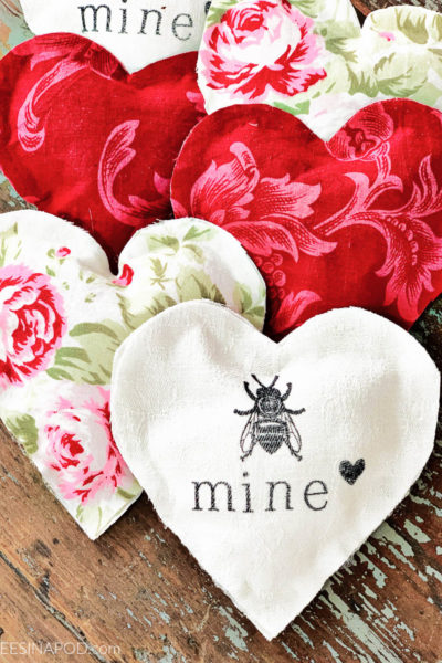 Easy Fabric Hearts – No Sewing Required