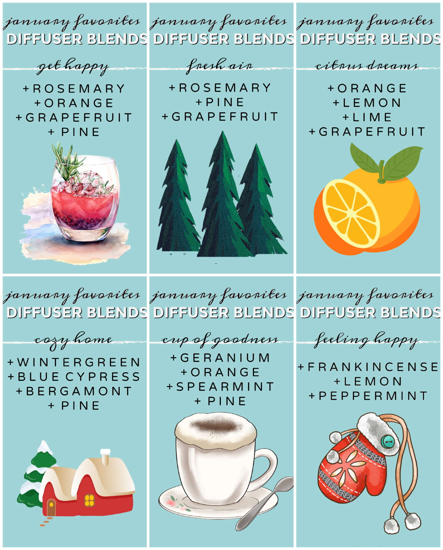 January Diffuser Blends  to Help Beat the Winter Blues