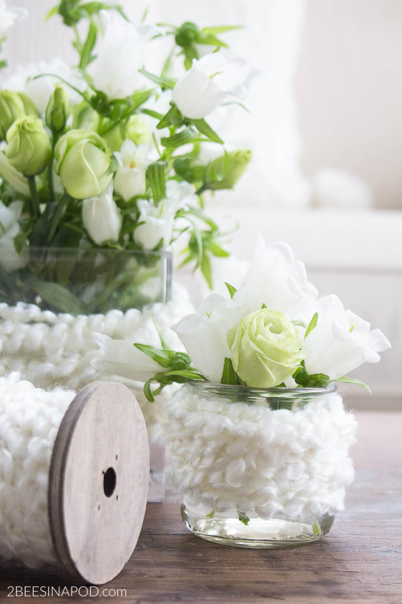 Yarn Wrapped Vases – Easy DIY Decor