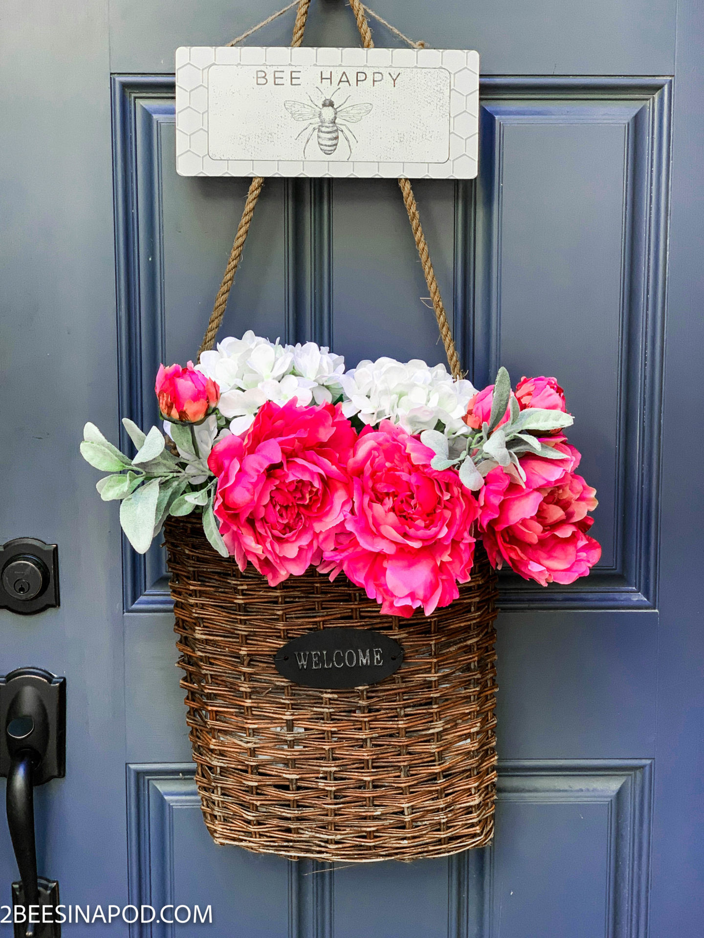 Colorful Spring Front Porch Decor