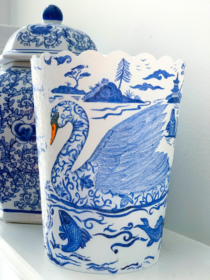 Decoupage Vase with Napkins - Dollar Tree Project