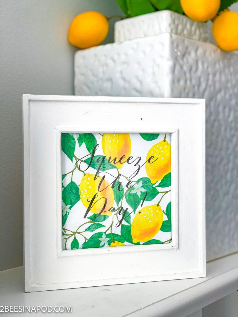 Lemon Printable 2 Ways - Squeeze the Day