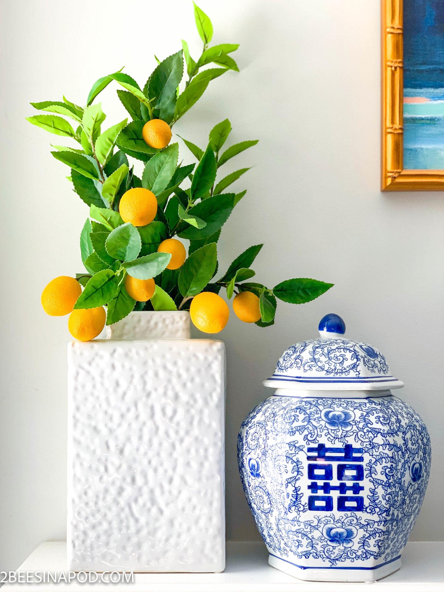 Summer Lemon Inspired Mantel