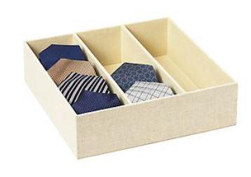 Container store tie organizer