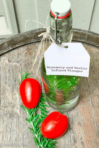 Rosemary Garlic White Wine Vinegar