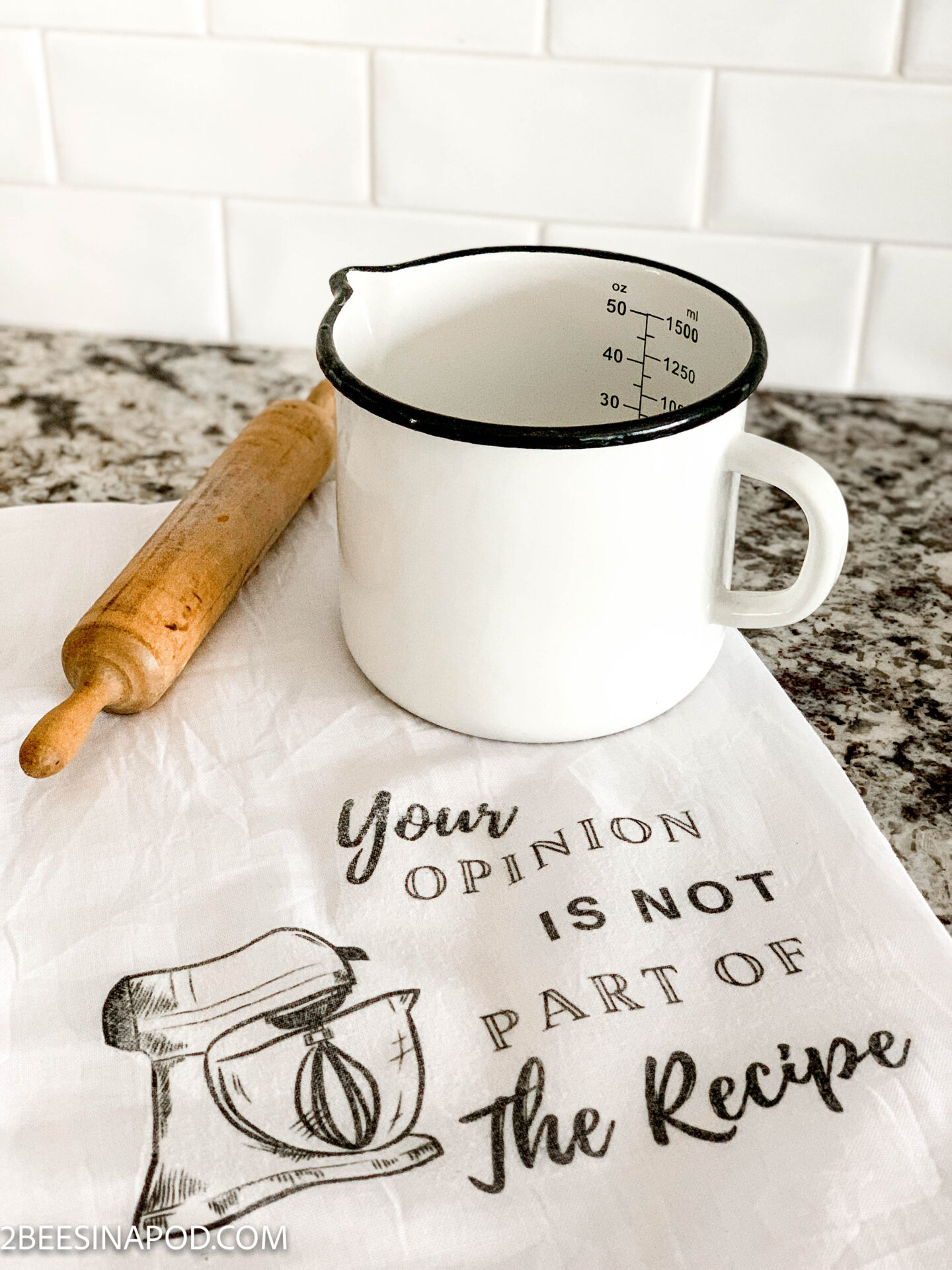Funny DIY Tea Towel – Your Opinion is not Part of the Recipe