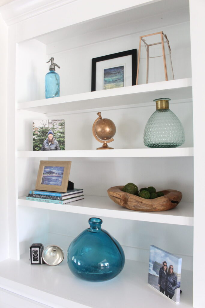 Styling built-in bookshelves