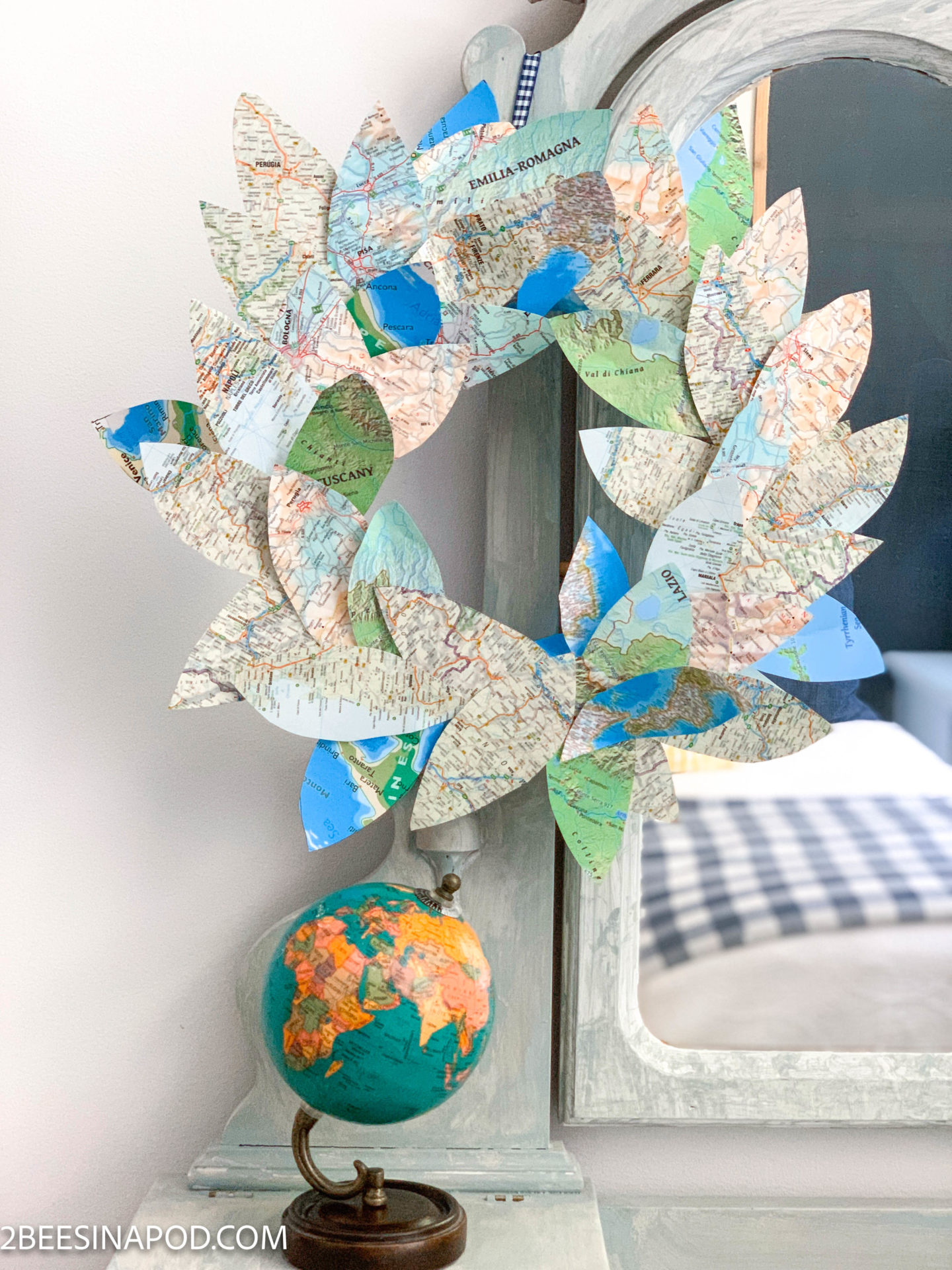 Vacation Memory Map Wreath