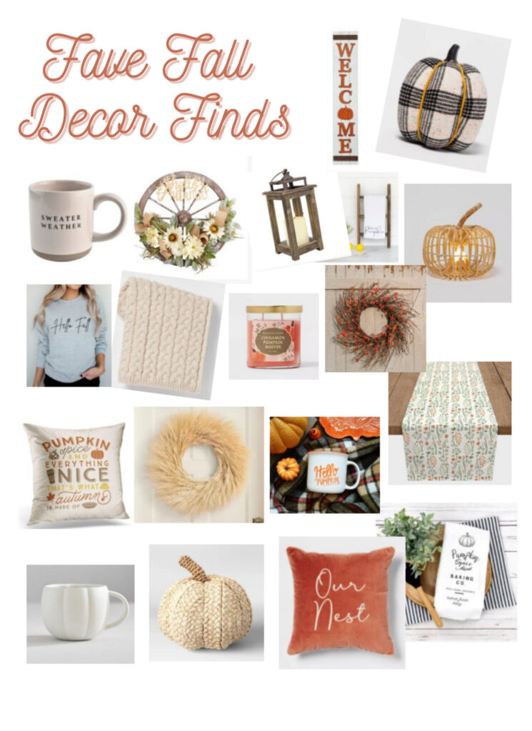 Favorite Fall Decor Finds for this year