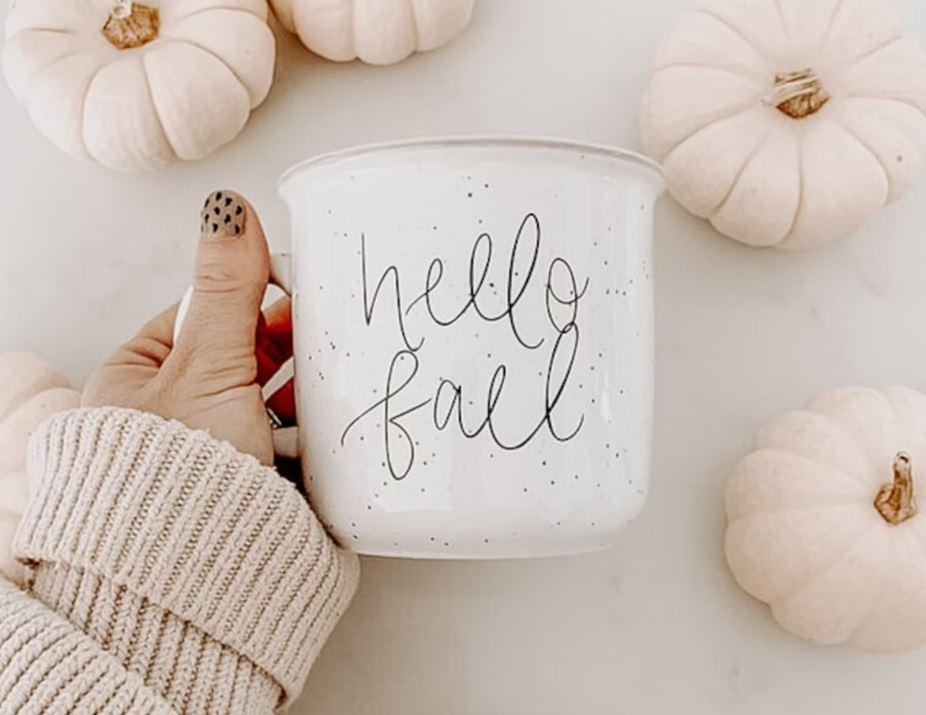 All the buzz - hello fall coffee mug