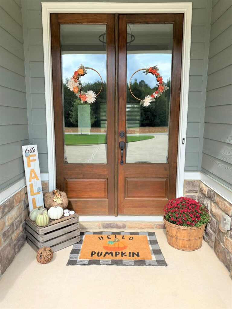 Simple Fall Front Porch
