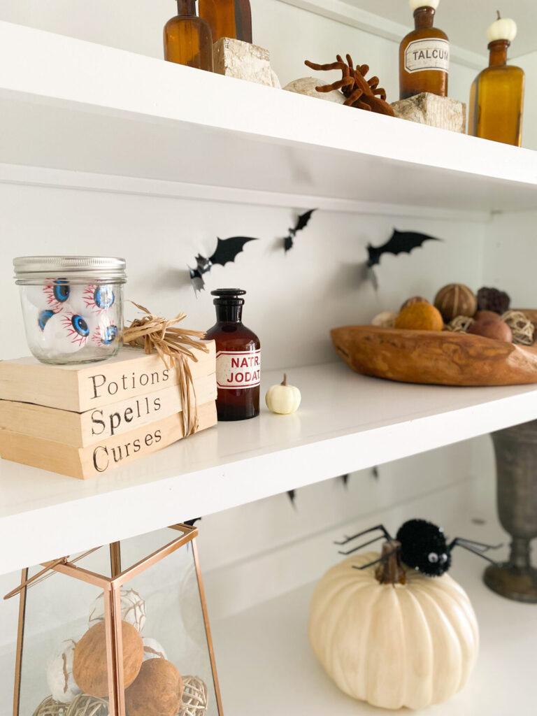 halloween book decor